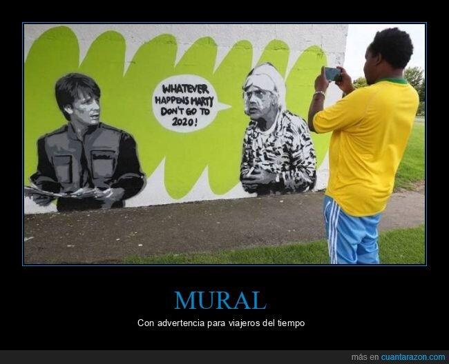 2020,mural,regreso al futuro