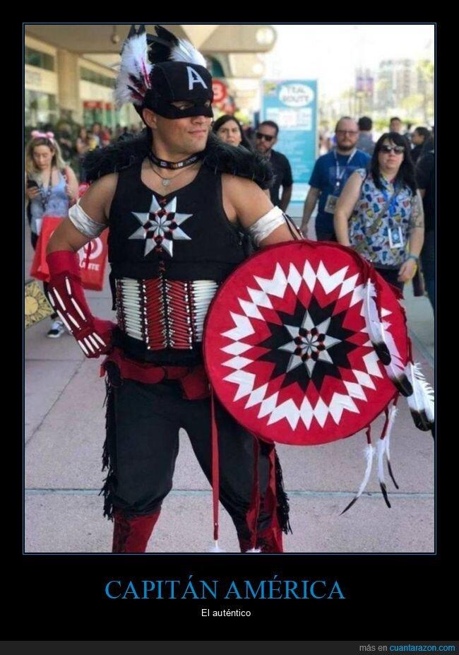 capitán américa,disfraz,nativo americano