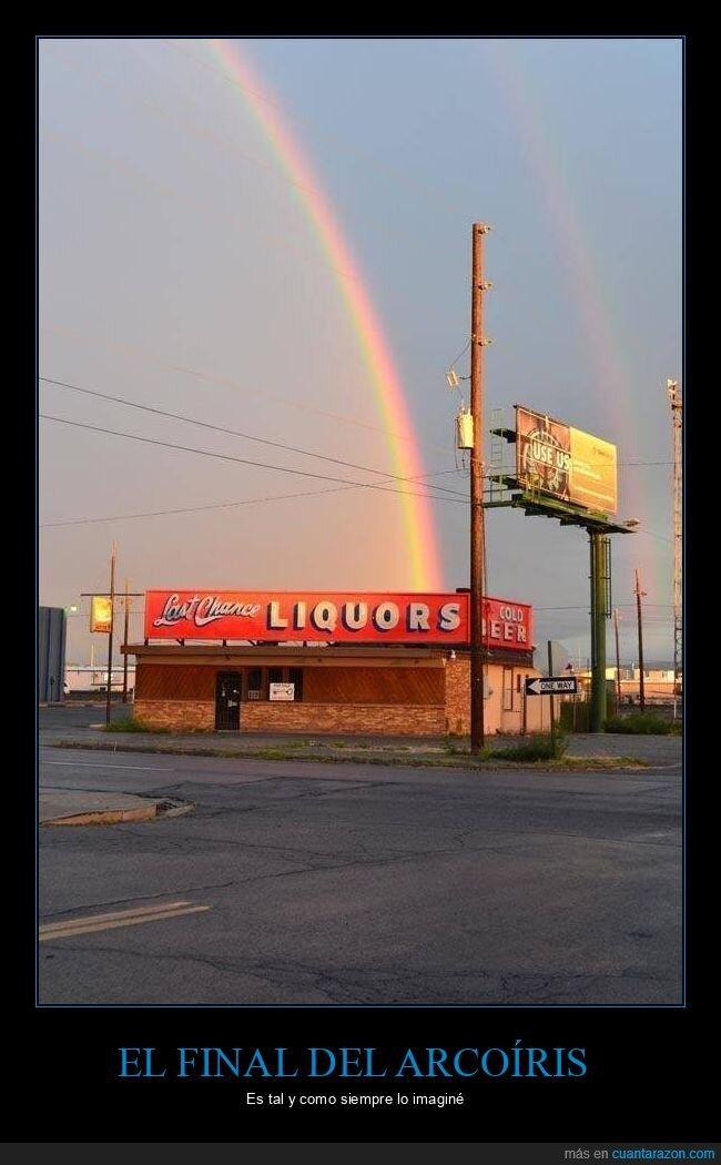 arcoíris,final,tienda de licores