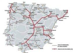 Enlace a Líneas de ferrocarril en España