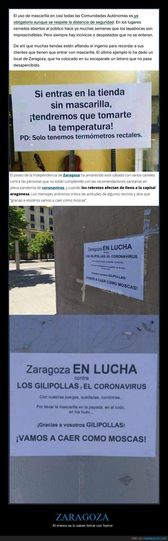 avisos,carteles,coronavirus,humor,zaragoza