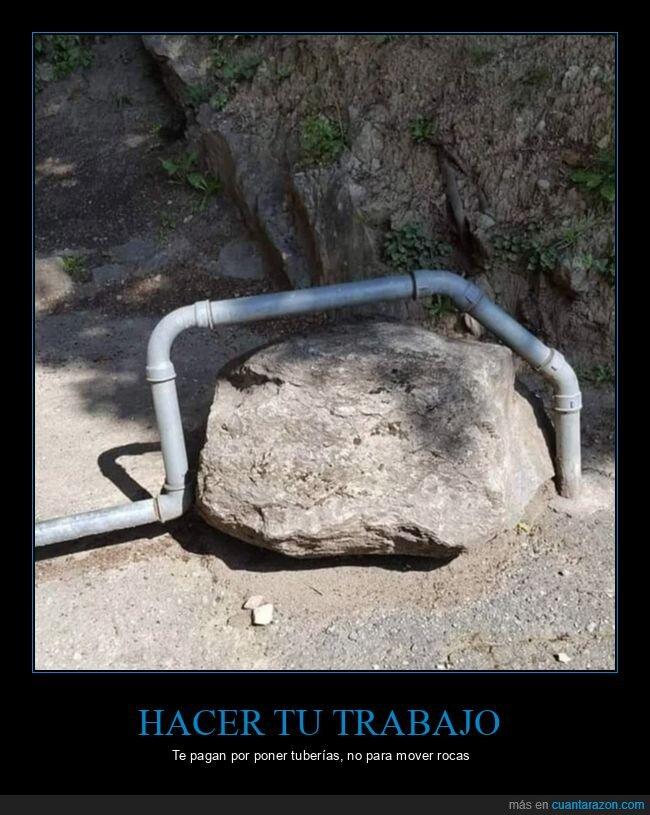 roca,sortear,tubería