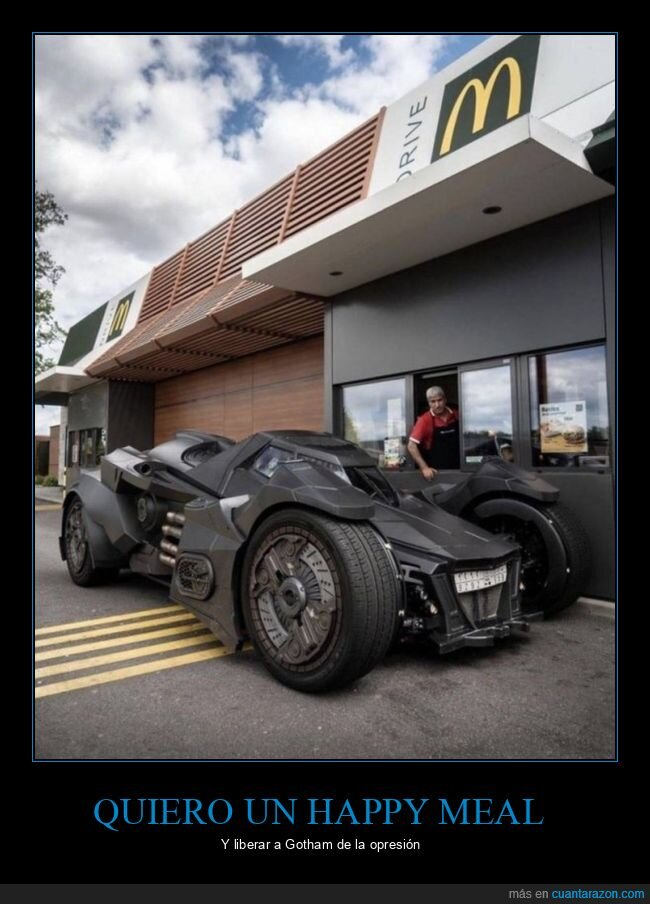 batman,batmovil,mcauto,mcdonalds