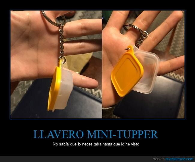 llavero,mini,tupper