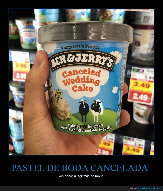 ben & jerry's,boda,cancelada,canceled wedding cake,helado,icecream