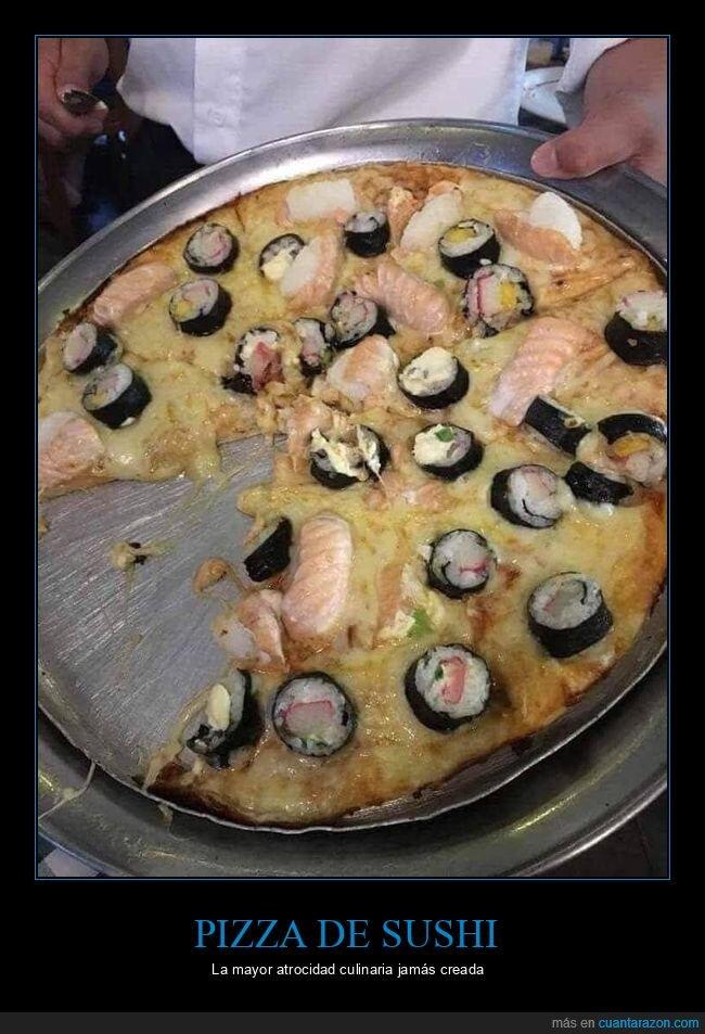 pizza,sushi