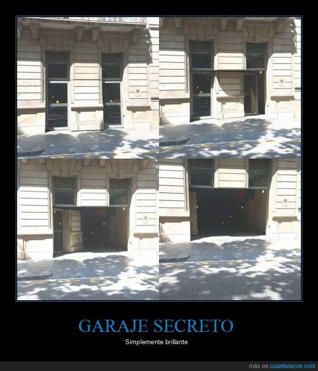 escondite,garaje,puerta,secreta