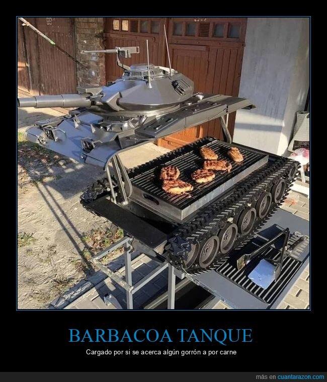 barbacoa,comida,tanque