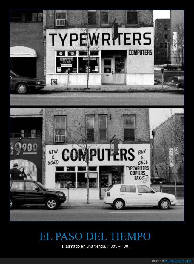 máquina de escribir,ordenadores,tienda,venta