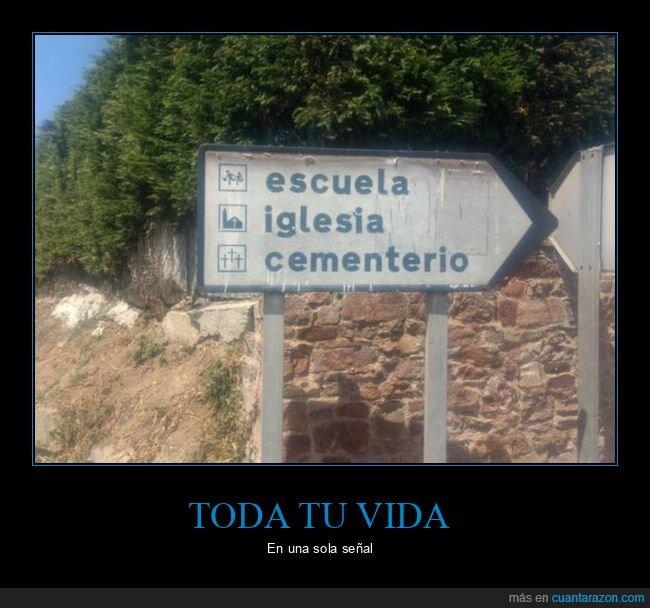 cementerio,escuela,iglesia,vida
