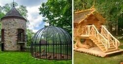Enlace a Personas que fueron muy creativas construyendo gallineros