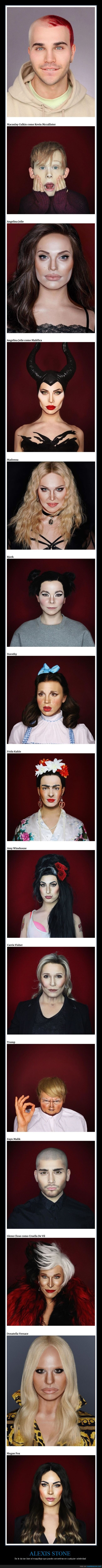 alexis stone,famosos,maquillaje