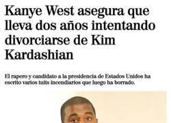 Enlace a Kanye tiene problemillas en casa