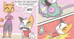 Enlace a Ilustrando experiencias como madre de 2 hijos en cómics con un toque felino