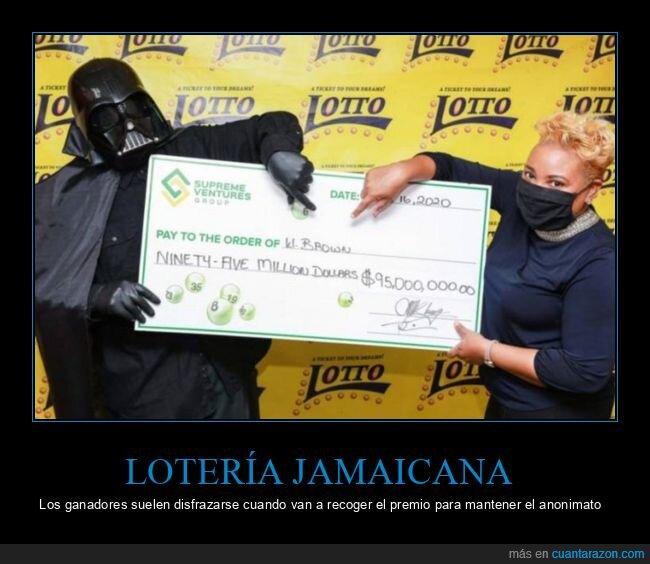 darth vader,disfraz,jamaica,lotería