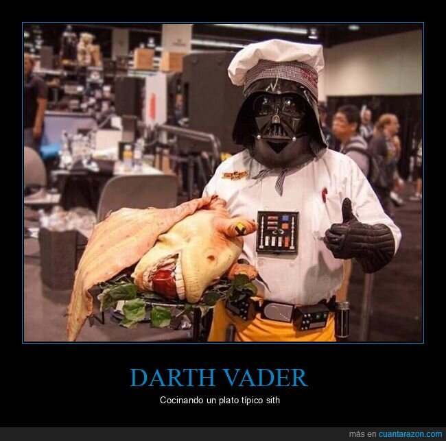 cocinero,darth vader,jar jar binks,star wars