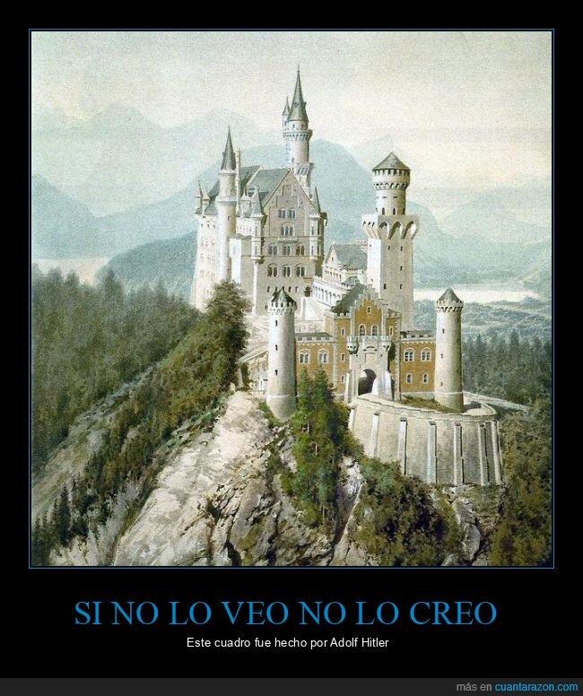 castillo,cuadro,hitler