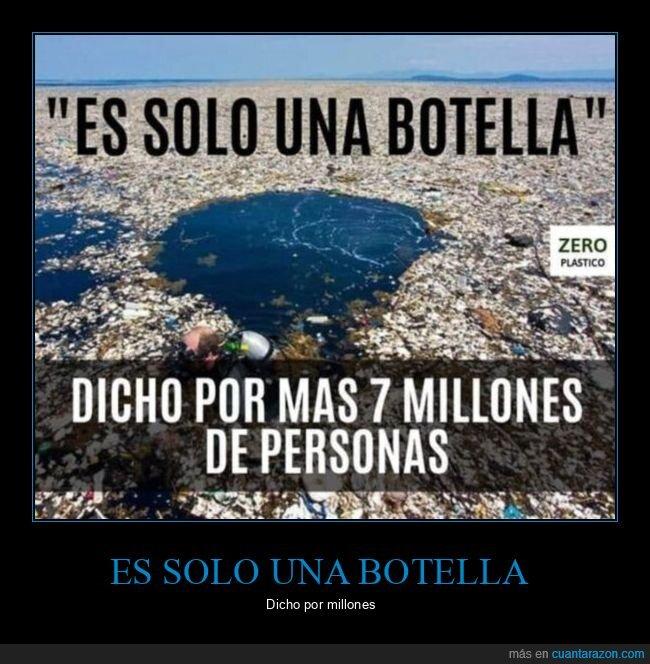 basura,bbotella,millones