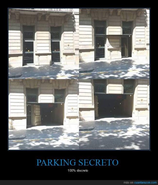 parking,puerta,secreto,wtf