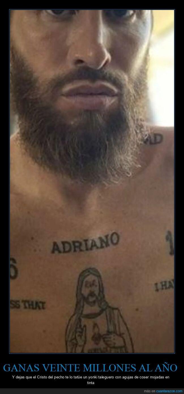 cutre,sergio ramos,tatuaje