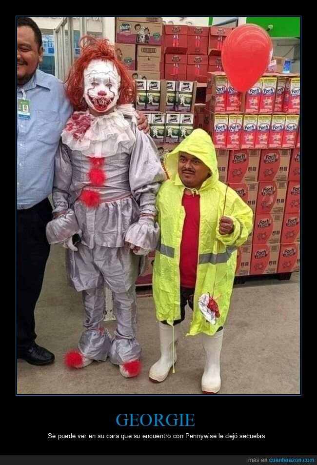 disfraces,georgie,it,pennywise,wtf