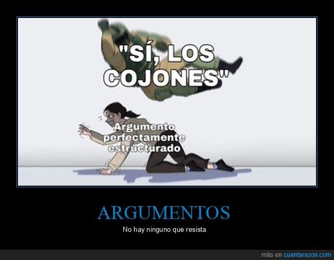 argumentos,discusión