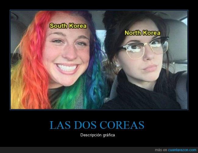 chicas,corea del norte,corea del sur