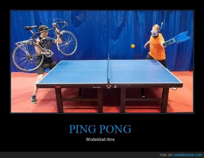 aleta,bicicleta,ping pong,wtf