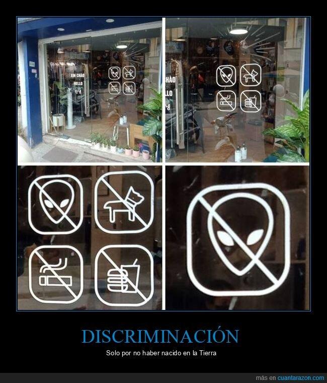 extraterrestres,prohibición,tienda