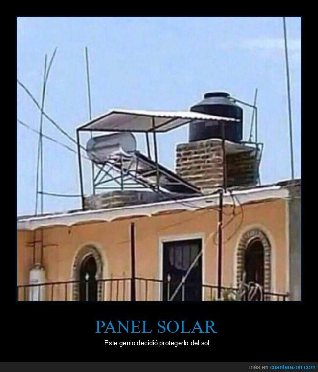 fails,panel solar,sombra