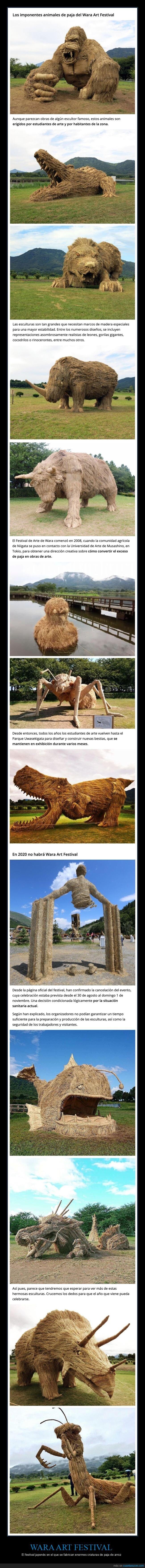 esculturas,japón,paja,wara art festival
