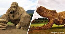 Enlace a Wara Art Festival: El festival japonés en el que se fabrican enormes criaturas de paja de arroz