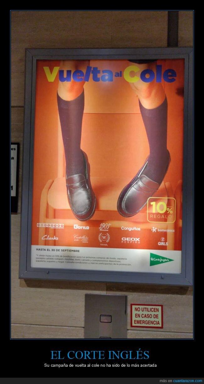 anuncios,el corte inglés,fails,vuelta al cole