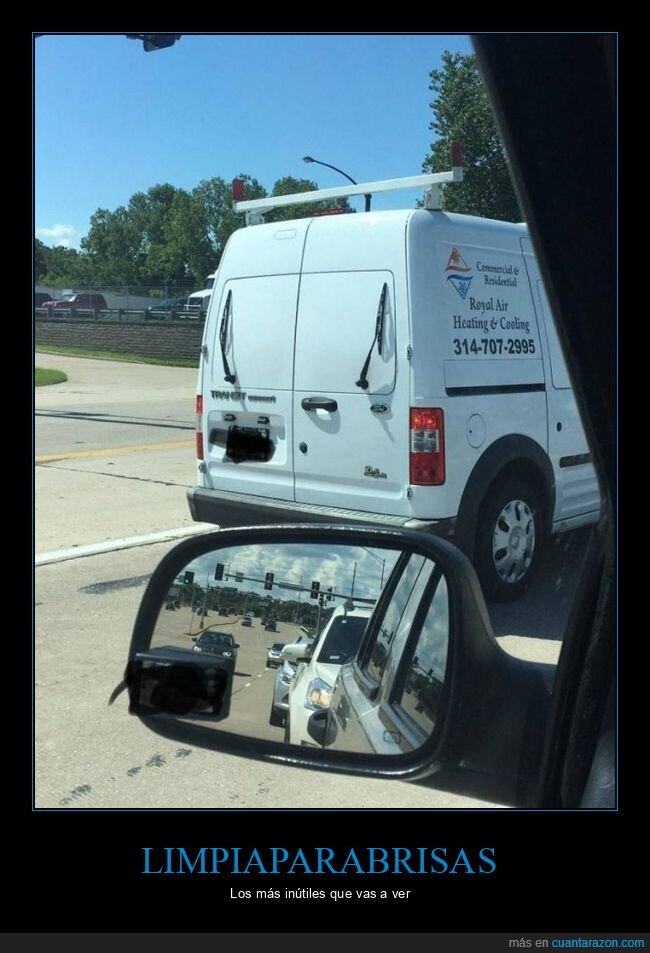 furgoneta,inútiles,limpiaparabrisas