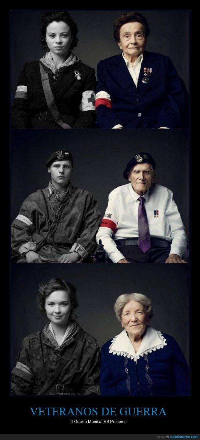 ahora,antes,ii guerra mundial,veteranos