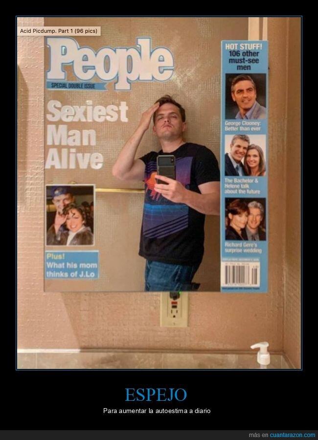 autoestima,espejo,revista