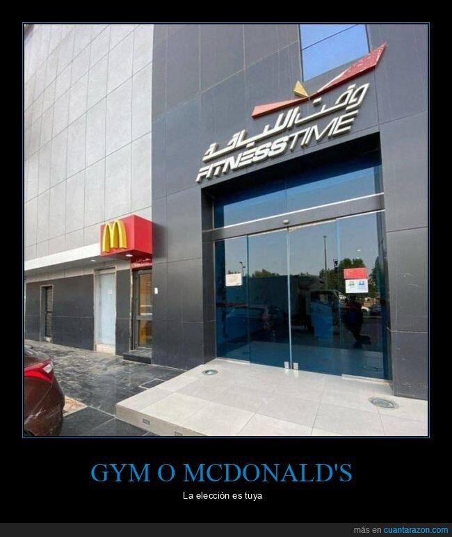 gimnasio,mcdonald's