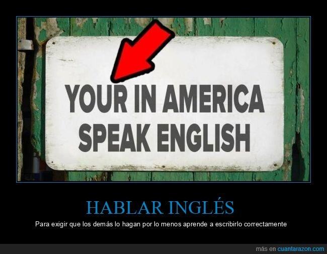 américa,carteles,hablar,inglés