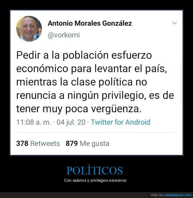 economía,políticos,privilegios