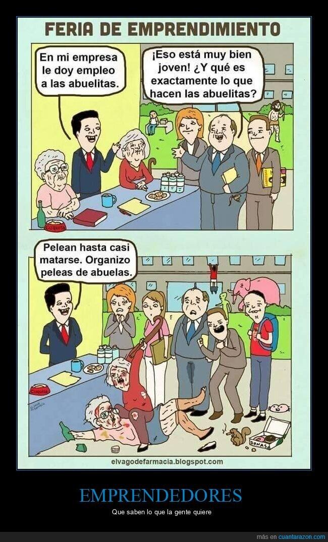 abuelas,empresa,peleas