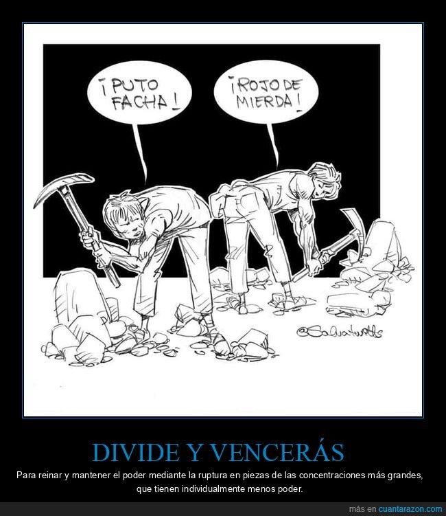 dividir,facha,ideologías,rojo
