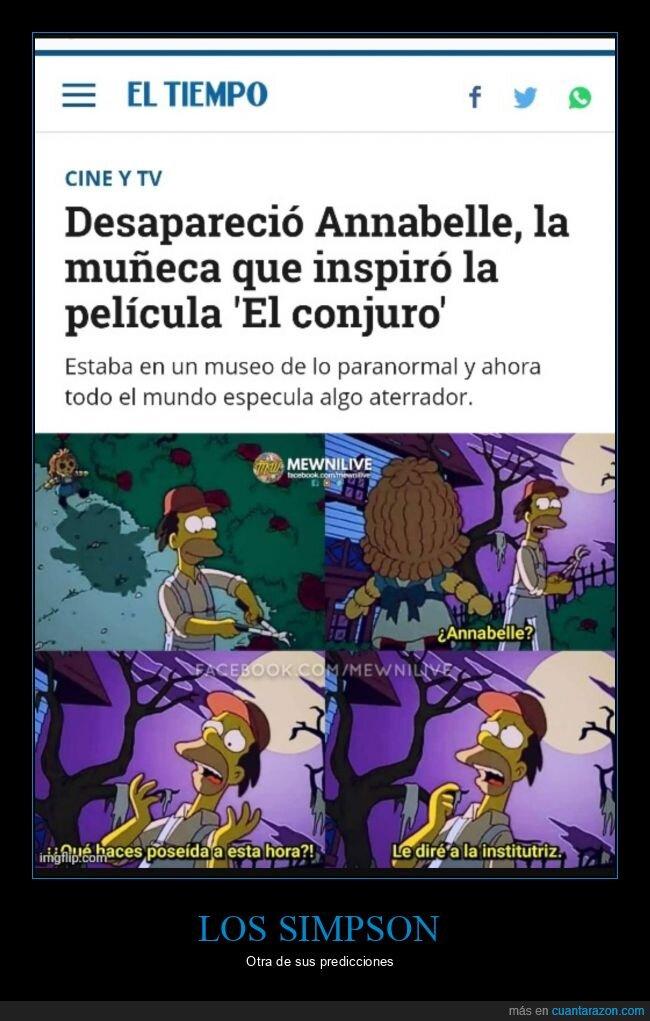 anabelle,desaparición,simpsons