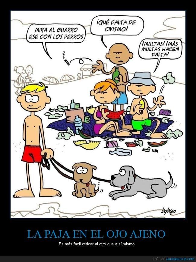 criticando,perros,playa