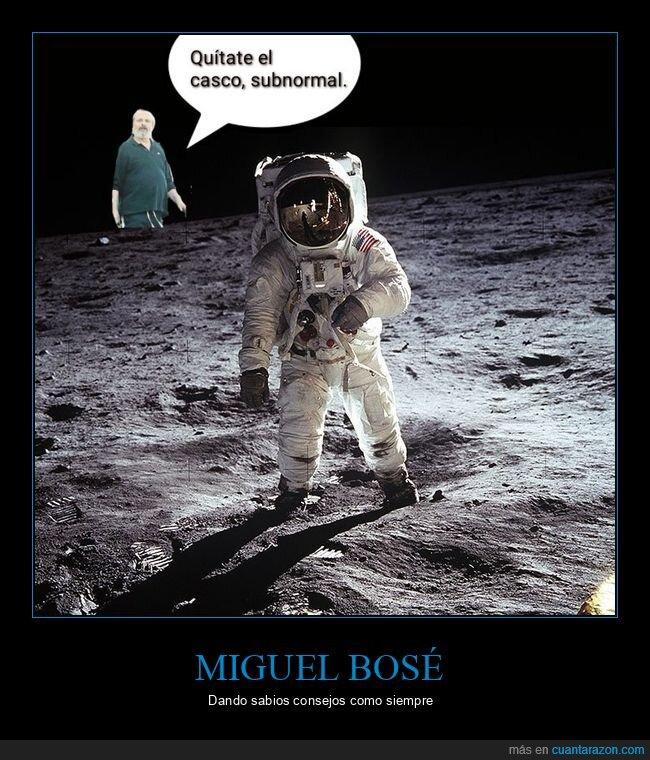 astronauta,casco,coronavirus,mascarillas,miguel bosé