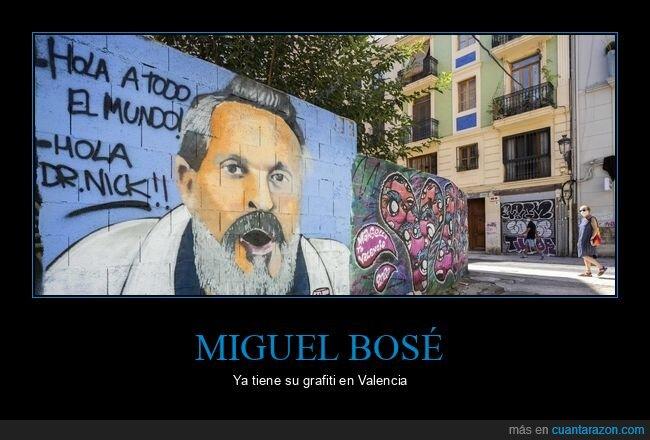 conspiranoicos,coronavirus,graffitis,miguel bosé