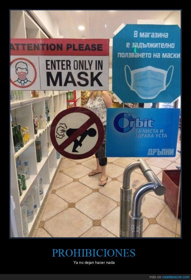 pedos,prohibición,señal,tienda,wtf