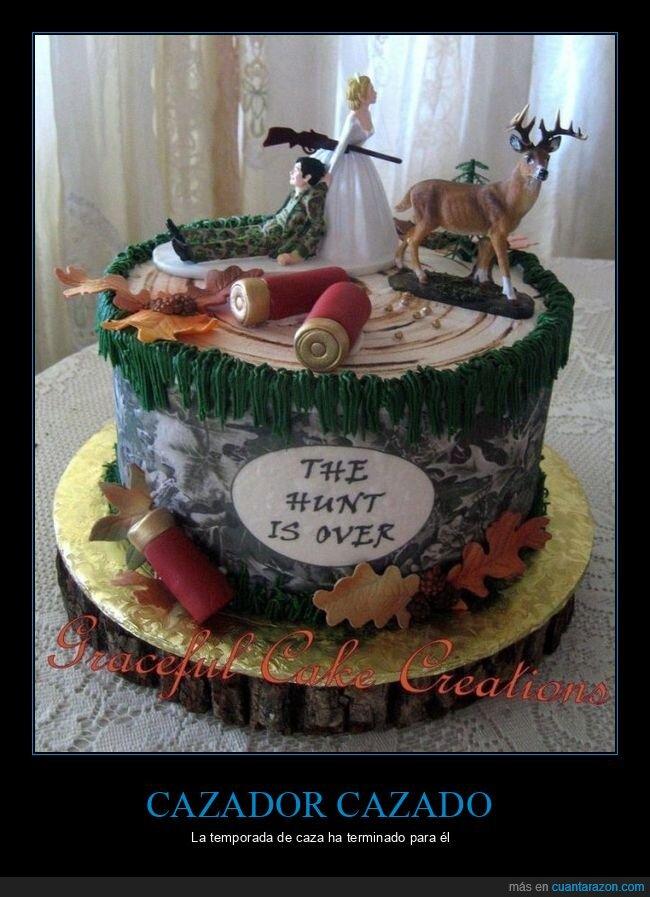 boda,cazador,tarta
