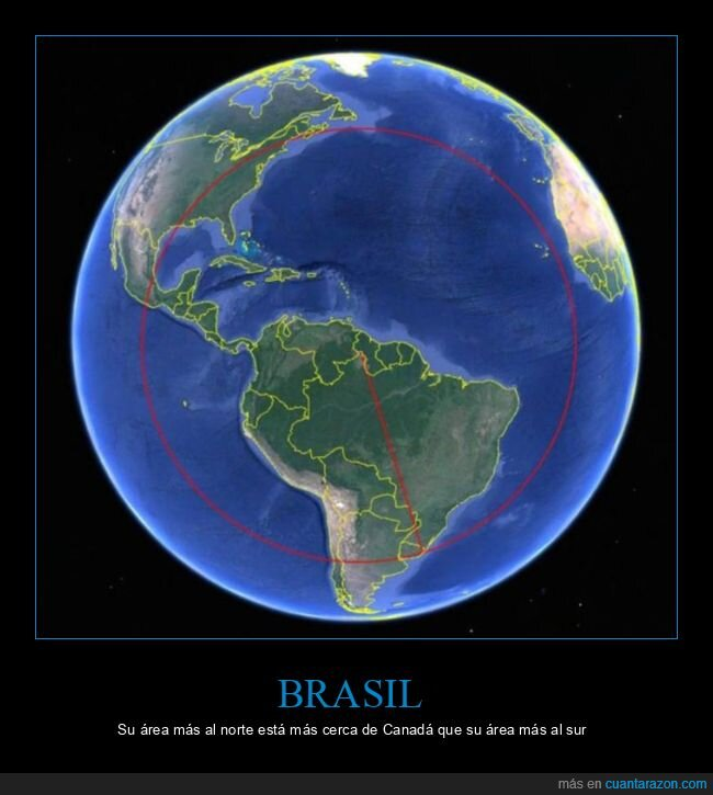 brasil,canadá,curiosidades,norte,sur