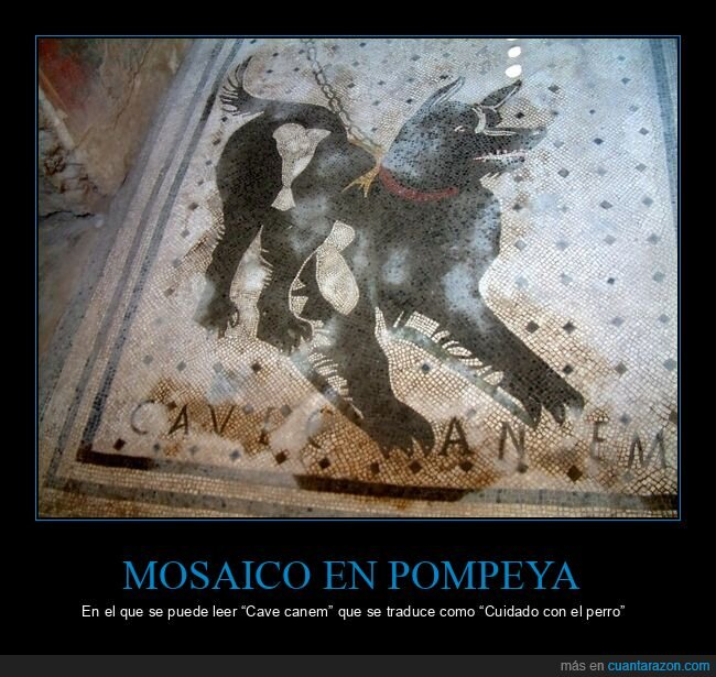 cuidado con el perro,mosaico,pompeya