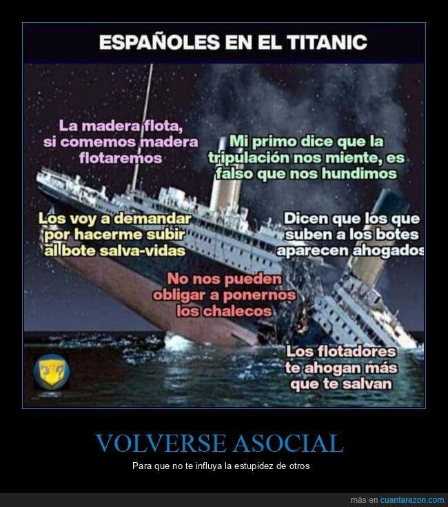 coronavirus,españoles,titanic